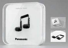 Panasonic Gets A Gold Star For Earphone Packaging Design - OhGizmo! Good.