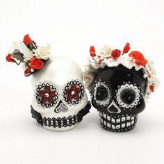 Skull Wedding Cake Topper A00002