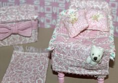 Pink Miniature child's bedroom http://stores.ebay.com/happyharvesterminiatures