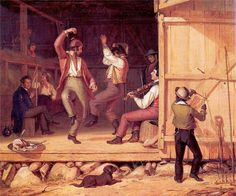 MOUNT DANCE of the HAYMAKERS (Image detail for William Sidney) Folk music has been around since the beginning of North America country. European immigrants brought their ballads and some brought their acoustic instruments and composed songs about the kinds of lives they were living, so at that time, America's music came from the people, not from the music industry. Music was the culture and environment of the people wherever they worked and lived.