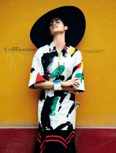 Elite London: Juana Burga | Harper's Bazaar Russia
