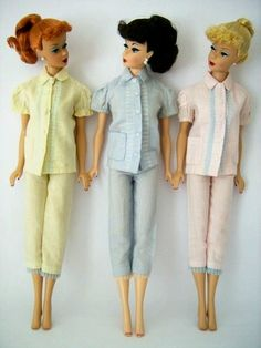 Barbies ponytail en pijamas pescador