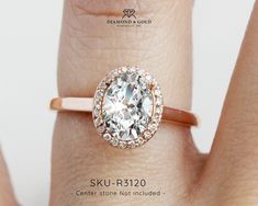Rose Gold Halo Solitaire Engagement Ring- ENGAGEMENT RINGS DALLAS at wholesale prices- Diamond and Gold Warehouse , Call 972-404-4499 for an appointment