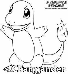 Smiling Pokemon coloring pages for kids printable free Coloring