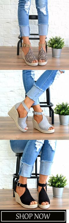 You can buy the trendy fashion shoes, clothing and bags here. Enjoy your shopping journey now! Women's Espadrilles, Espadrille Sandals, Wedge Sandals, Spring Summer Fashion, Spring Outfits, Fashion Shoes, Fashion Outfits, Womens Fashion, Mode Outfits