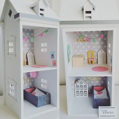 Studio Nimma poppenhuis #dollhouse #cute #handmade #girls #webshop #poppenhuis #play #kinderkamer #wood #hip #pop #wit