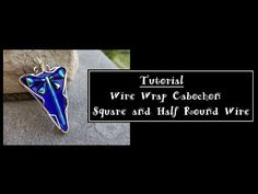 Wire Wrap Pendant Using Square and Half Round Wire - YouTube