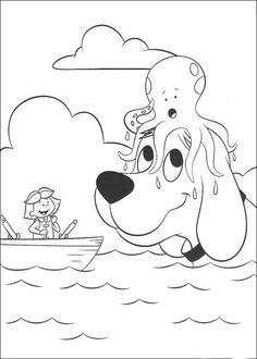 Desenhos para colorir para crianças. Desenhos para imprimir e colorir Clifford 27