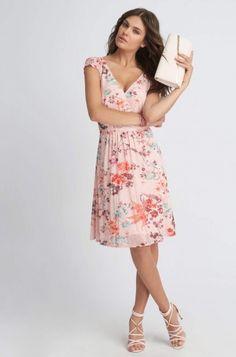 Siateczkowa sukienka w kwiaty | ORSAY