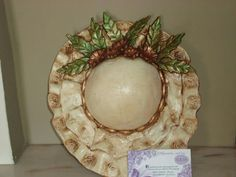 Ω Clay Crafts, Decoupage, Decorative Plates, Centerpieces, Pottery, Ceramics, Hats, Sombreros, Diy Crafts