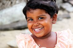 """Three-year-old Sadursha's gorgeous smile melts the hearts of everyone who meets her. Although her grandfather struggles to provide for her, Compassion in Sri Lanka is helping Sadursha thrive.   As her teacher says, """"No matter what situation she is living in, she smiles [with] such strength and innocence."""" #AboutTheGirls"""