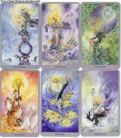 Shadowscape tarot deck by Stephanie Pui-Mun Law & Barbara Moore Tarot Card Decks, Tarot Cards, Mermaid Tarot, Barbara Moore, Tarot Card Meanings, Wiccan Spells, Tarot Spreads, Oracle Cards, Famous Artists