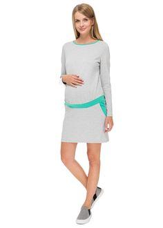 """Платье """"Инга"""" серый меланж для беременных – цены в Москве в интернет-магазине I Love Mum"""