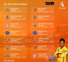 Check Chennai Super Kings Complete Schedule #IPL2018 #IPLSchedule #VIVOIPL #IPL