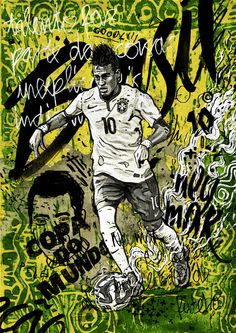 World Cup 2014 - Neymar/Brasil Illustration on Behance