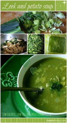Leek and Potato Soup #grrecipes via http://greenreset.com/leek-and-potato-soup/