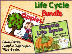 Apples and Pumpkins Life Cycle Unit; PowerPoints, graphic organizers, mini0books, vocabulary$