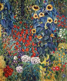 Farm Garden with Sunflowers - Canvas Art & Reproduction Oil Paintings