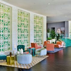 10 high-design hotels in Palm Springs: Riviera Palm Springs Wholesale Hotels Group - See the difference for yourself! Palm Springs Hotels, Palm Springs Style, Beach Hotels, Interior Design Trends, Contemporary Interior Design, Contemporary Architecture, Design Hotel, Design Design, Design Ideas