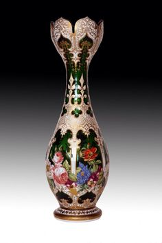Bohemian overlay glass vase. Amazing.