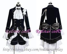 Black Butler Cosplay Ciel Phantomhive Dark Blue Costume -Custom made in Any size