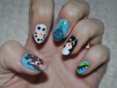 Świat paznokci: Moje świątecze paznokcie