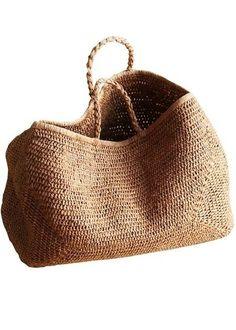 Bags Provence Basket NORO 50% raffia 50% cotton Color tea