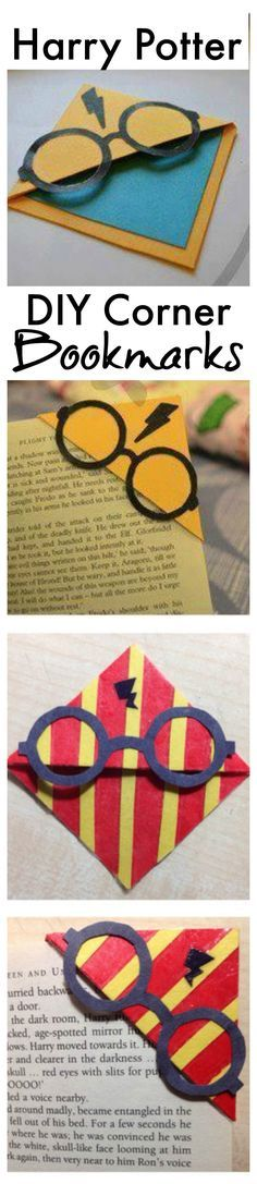 DIY Harry Potter corner bookmarks.