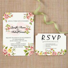 Spring Fl Themed Wedding Invitation Ideas L