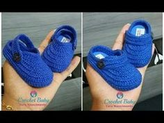 Mocassim THÉO FELIPPE de Crochê - Tamanho 09 cm - Crochet Baby Yara Nascimento - YouTube