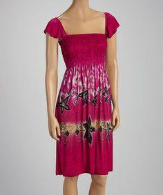 Pink Flower Smocked Peasant Dress #zulily #zulilyfinds