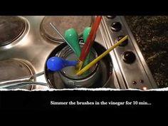 Restore Paint Hardened Brushes