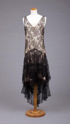 Callot Soeurs  | Callot Soeurs dress 1929-1931 | BLACK Lace Fashion, 1930+
