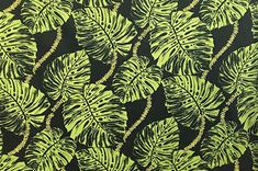 polyester and cotton fabric. Border Print, Hawaiian Print, Playsuit, Plant Leaves, Wallpaper, Pictures, Black, Jumpsuits, Wallpaper Desktop