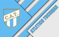 Descargar fondos de pantalla Club Atlético Tucumán, Argentina club de fútbol, 4k, diseño de materiales, azul, blanco, abstracción, San Miguel de Tucumán, Argentina, el fútbol, el Argentino de la Superleague, Primera División Division, Football Wallpaper, Sports Wallpapers, Material Design, Football Players, Argentina Football, Blue And White, Burns, Club
