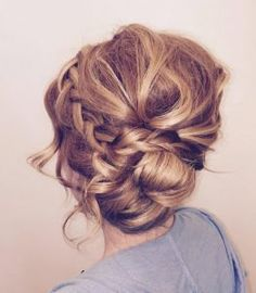 Pin up bun with braid by Coryn Neylon