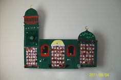 ramadan calender each day of ramadan at magrheb kids get a prize in there calender.....this one made by and for 3 kids was fild up when they were assleep!!!!