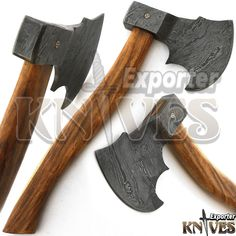 "Knives Exporter New Custom 15"" Damascus Best Bearded Felling Hatchet / Axe 419 #Knivesexporter"