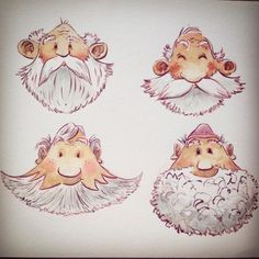 The grandpa who speaks in riddles. Some rough head studies for one of the characters in our book. #characterdesign #sketch #illustration #kidsbook #kidslit #childrensbooks #picturebook #artwork #booksforkids #watercolor #artistoninstagram