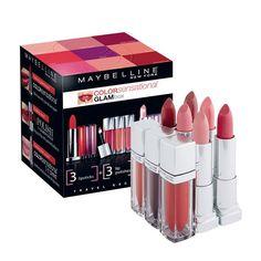 #分享Instagram# เปลี่ยนลุคได้ทุกวัน ตามสไตล์ความต้องการของคุณด้วย Collection สีสดใส Glambox by Color Sensational จาก Maybelline ซึ่งประกอบด้วย Lip Polish, The Lipstick และ The Shine ที่รวมทุกความต้องการของคุณผู้หญิงไว้ในเซ็ตเดียว  สอบถามเพิ่มเติมโทร. 1631