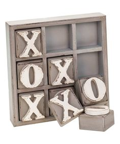 Look at this Wood Block Tic-Tac-Toe Set on #zulily today!