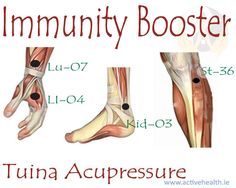 Tuina Acupressure  You can stimulate these four immunity super booster points while you are healthy to improve and enhance your immune system. If you have a flu stop stimulating the Zu San Li (St-36) until after your Cold or Flu goes away, ,Nutrition | Smiling Body | Page 8