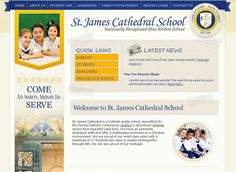 St. James Cathedral School is active on Facebook, Twitter, and they blog. Check out their social buttons towards the bottom of the left sidebar on their homepage. Great job!