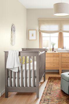 Create a modern nursery with our Nest crib.
