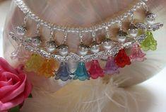 10 Perlenengel Anhänger Elegance Schmuck Bastelset mit Strass Glücksbringer DIY