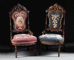 antique needlepoint chairs