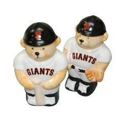 "San Francisco Giants Salt & Pepper Shaker by First Commemorative Mint. $9.95. This is the San Francisco Giants Salt & Pepper Shaker Set.   Perfect item for yourself or that favorite GiantsFan on your shopping list.   Great to display, use on a daily basis.  approx 4 1/2"" tall x 2 1/2"" wide"