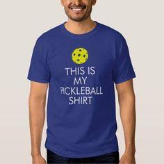 "(Pickleball T-shirt: ""This is my Pickleball Shirt"" Shirt) #ILovePickleball #MyPickleball #Pickleball #PickleballRules #ThisIsMyPickleball is available on Funny T-shirts Clothing Store   http://ift.tt/2bGkLhG"