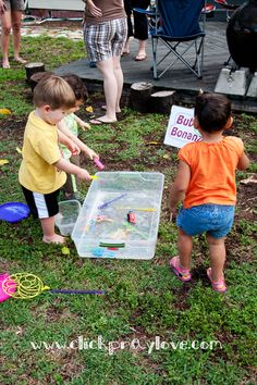 I love this idea so much. Messy Play Date via All for the boys.