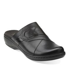 7e7cd7219 Love this Black Leisa Sahara Leather Clog by Clarks on  zulily!   zulilyfinds Ugly